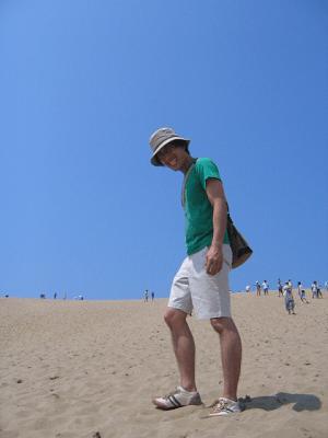 7年前…鳥取砂丘にて