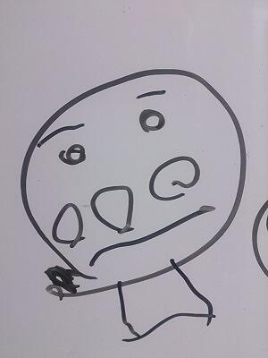 4才の娘からみたアンパンマンは こんな感じ(笑)