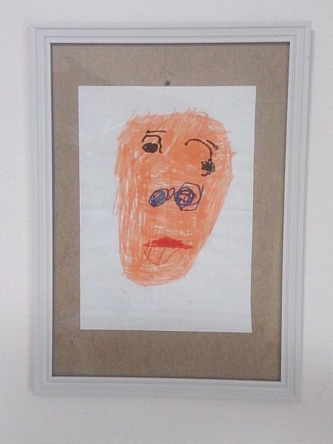 娘の作品 「ムンクの・・・」じゃないんだけど いったい、誰を書いたんだろう!?(笑)