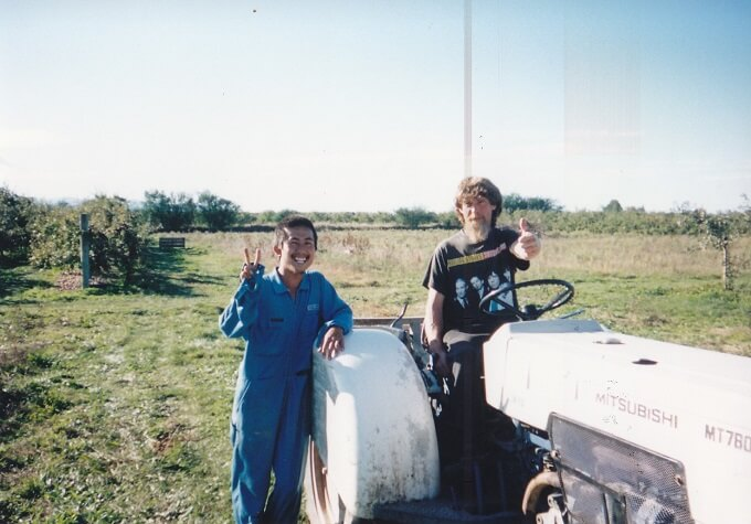 20代、ニュージーランドでアップルピッキングをしていた農園で