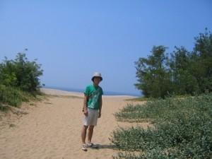 20代のボク~鳥取砂丘にて