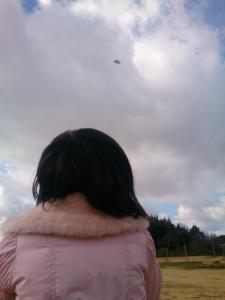凧見えるかな~娘とのんびり凧あげ