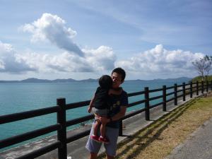 2012年夏~沖縄美ら海水族館へ向かう途中の1枚