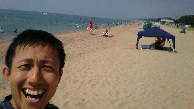 娘に連れられ海とプールの往復でした~慶野松原海水浴場