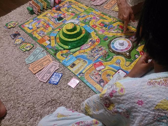 ぜんぜん関係ないんですが、娘の最近のハマりごと~人生ゲーム~強制的に毎晩させられてます(笑)