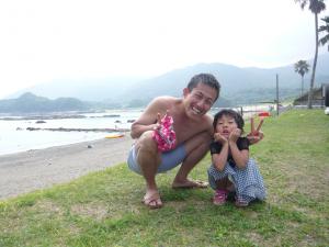 去年の夏の一コマ~高知県土佐清水の海で