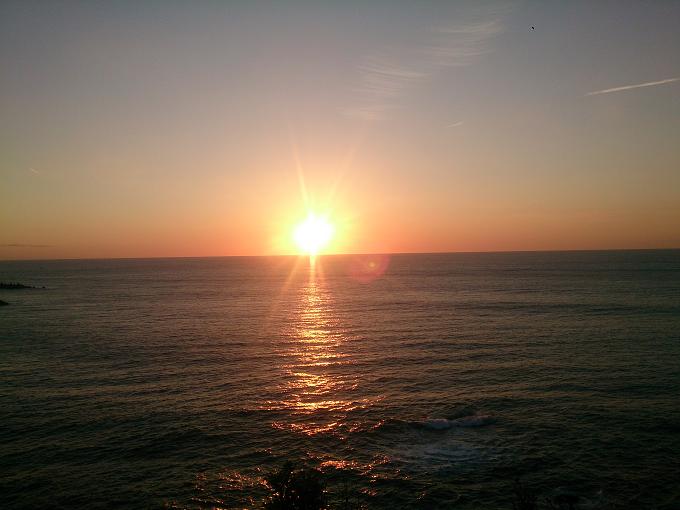 高知県から見える太平洋に浮かぶ朝陽