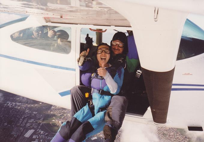 facebookjに載せると、「リスペクト~」というコメントをいただけた写真~20代、空から羽ばたいたとき