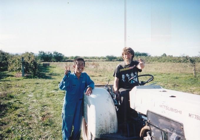 当時の写真~地元のリンゴ農園で働いていた頃